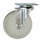 5 Inch Stainless Steel Swivel Caster with White Nylon Wheel