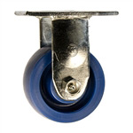 4 Inch Stainless Steel Rigid Caster - Solid Polyurethane Wheel