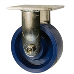 5 Inch Stainless Steel Rigid Caster - Solid Polyurethane Wheel