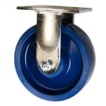 6 Inch Stainless Steel Rigid Caster - Solid Polyurethane Wheel