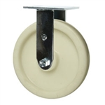 8 Inch Stainless Steel Rigid Caster - Nylon Wheel