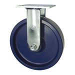 8 Inch Stainless Steel Rigid Caster - Solid Polyurethane Wheel