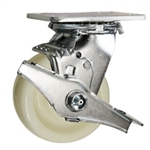 4 Inch Stainless Steel Swivel Caster - Nylon Wheel
