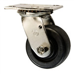 4 Inch Stainless Steel Swivel Caster - Polyolefin Wheel