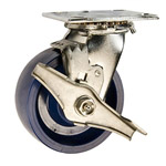 5 Inch Stainless Steel Swivel Caster - Solid Polyurethane Wheel