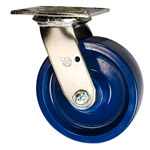 6 Inch Stainless Steel Swivel Caster - Solid Polyurethane Wheel