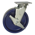 8 Inch Stainless Steel Swivel Caster - Solid Polyurethane Wheel