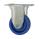 "3"" Stainless Steel Rigid Caster with Polyurethane Wheel"