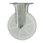 5 Inch Stainless Steel Rigid Caster with White Nylon Wheel