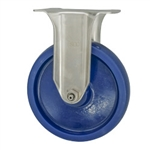"5"" Stainless Steel Rigid Caster with Polyurethane Wheel"