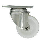 3 Inch Stainless Steel Swivel Caster with White Nylon Wheel
