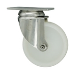 4 Inch Stainless Steel Swivel Caster with White Nylon Wheel