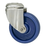 "4"" Stainless Steel Grade 316 Bolt Hole Swivel Caster with Solid Polyurethane Wheel"