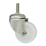 3 Inch Stainless Steel Metric Threaded Stem Swivel Caster with Nylon Wheel