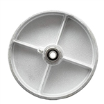 "8"" x 2"" Semi Steel Cast Iron Wheel with Ball Bearings"