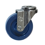 "4"" Stainless Steel Bolt Hole Swivel Caster with Solid Polyurethane Wheel"