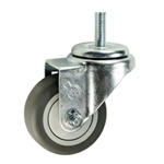 "3"" Stainless Steel Threaded Stem Swivel Caster with Thermoplastic Rubber Wheel"