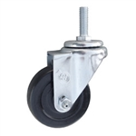 Stainless Steel Threaded Stem Swivel Caster with Rubber Wheel
