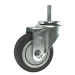 1/2 Inch Stainless Steel Threaded Stem Swivel Caster with Thermoplastic Rubber Wheel