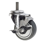 Stainless Steel Metric Threaded Stem Swivel Caster with Thermoplastic Rubber Wheel