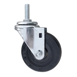 Metric Threaded Stem Stainless Steel Swivel Caster with Rubber Wheel