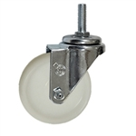 4 Inch Stainless Steel Threaded Stem Swivel Caster with Nylon Wheel