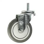 "4"" Stainless Steel 10mm Threaded Stem Swivel Caster with Thermoplastic Rubber Wheel"