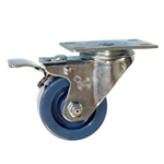 "3"" Stainless Steel Swivel Caster with Solid Polyurethane Wheel and Total Lock Brake"