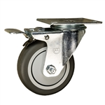 "4"" Stainless Steel Swivel Caster with Total Lock Brake"