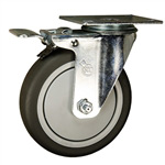 "5"" Stainless Steel Swivel Caster with Total Lock Brake"