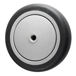 "5"" x 1-1/4""  Thermoplastic Rubber  on Poly Wheel"