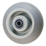 "2"" x 5""  Thermoplastic Rubber  on Poly Wheel with Ball Bearings"