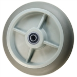 "2"" x 8""  Thermoplastic Rubber  on Poly Wheel with Ball Bearings"