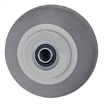 "4"" x 2""  Thermoplastic Rubber on Poly Wheel with Ball Bearings"