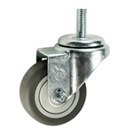"3"" Threaded Stem Swivel Caster with Thermoplastic Rubber Tread"