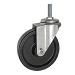 "5"" Metric Threaded Stem Swivel Caster with Phenolic Wheel"