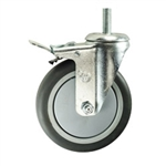 "5"" Swivel Caster with Thermoplastic Rubber Tread and Total Lock Brake"