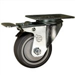 "3-1/2"" Swivel Caster with Thermoplastic Rubbber Tread and Total Lock Brake"