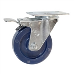 4 Inch Swivel Caster with Solid Polyurethane Wheel and Total Lock Brake