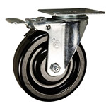 "5"" Swivel Caster with Phenolic Wheel and Total Lock Brake"
