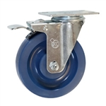 5 Inch Swivel Caster with Solid Polyurethane Wheel and Total Lock Brake