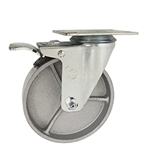 5 Inch Swivel Caster with Semi Steel Wheel and Total Lock Brake