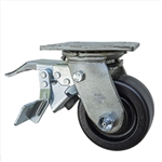 4 Inch Total Lock Swivel Caster with Phenolic Wheel and Ball Bearings