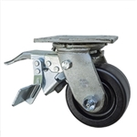 4 Inch Total Lock Swivel Caster with Phenolic Wheel