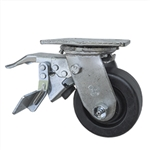 4 Inch Total Lock Swivel Caster with Polyolefin Wheel and Ball Bearings