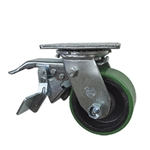 4 Inch Total Lock Swivel Caster with Polyurethane Tread Wheel and Ball Bearings