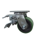 4 Inch Total Lock Swivel Caster with Polyurethane Tread Wheel