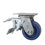 4 Inch Swivel Caster - Solid Polyurethane Wheel