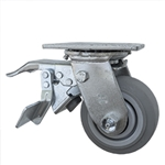 "4"" Swivel Caster with Total Lock and Thermoplastic Rubber Tread Wheel with Ball Bearings"