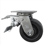 5 Inch Total Lock Swivel Caster with Phenolic Wheel and Ball Bearings